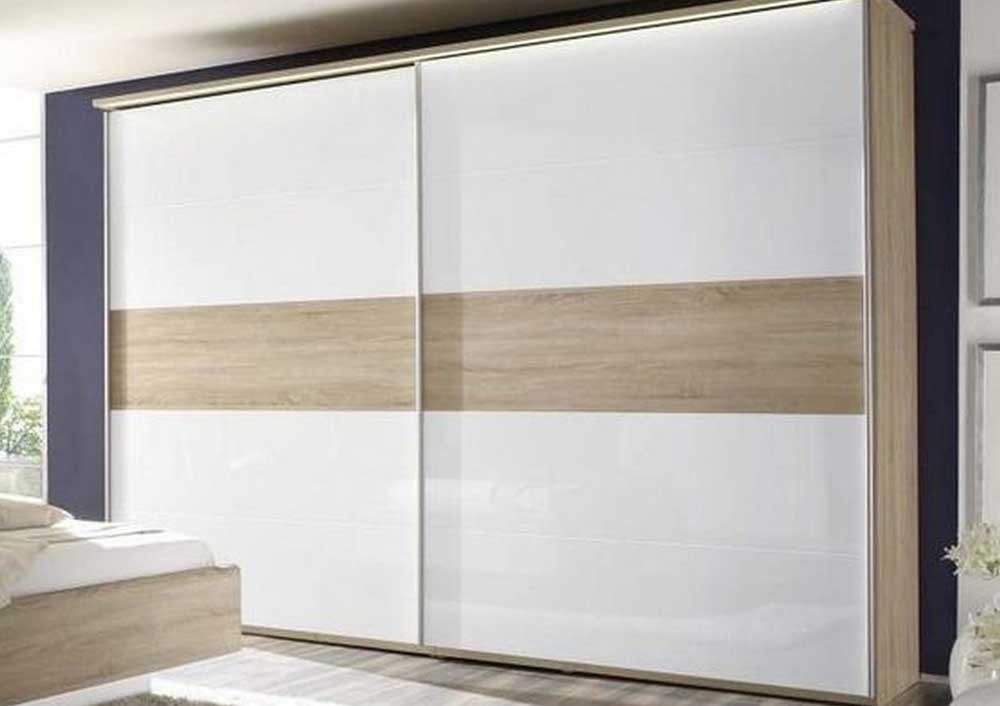 Современный шкаф-купе с комбинированными фасадами