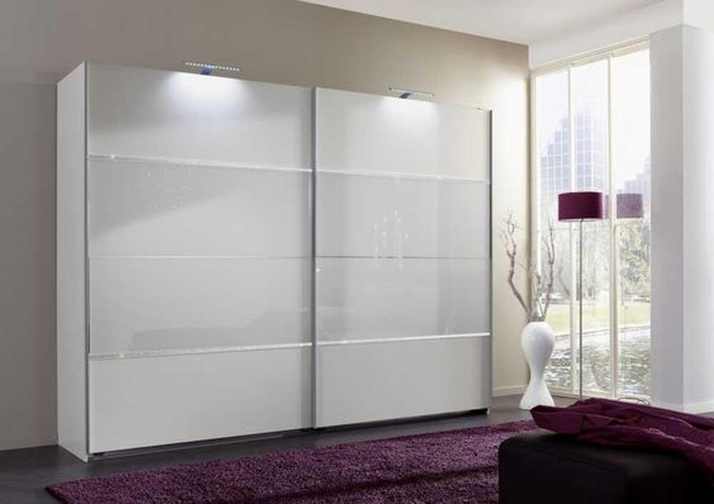 Современный шкаф-купе с крашеным стеклом