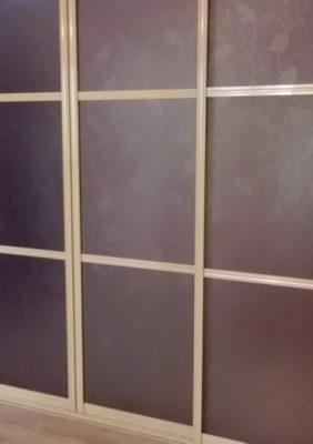Межкомнатная перегородка с рисунком на тонированном стекле