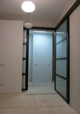 Раздвижные межкомнатные двери угловые