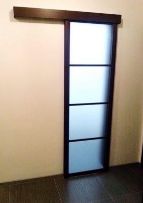 Подвесная раздвижная межкомнатная дверь