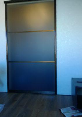 Раздвижная дверь в зал с тонированным стеклом