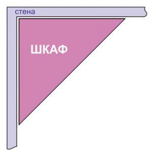 Схема треугольного углового шкафа-купе
