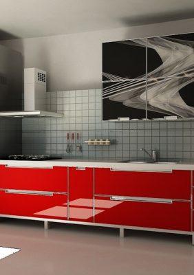 Кухня с УФ печатью на фасадах