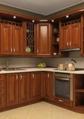 Кухни в классическим стиле (с пленочными фасадами)