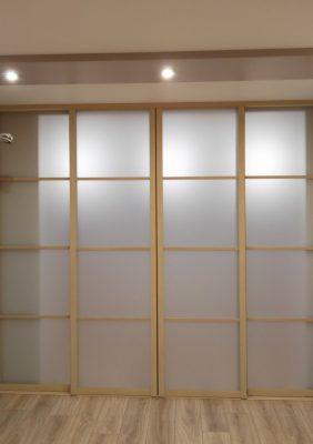 Перегородка межкомнатная с раздвижными дверями