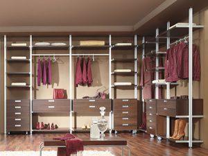 Каркасная (колонная) гардеробная система