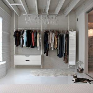 Открытая гардеробная система