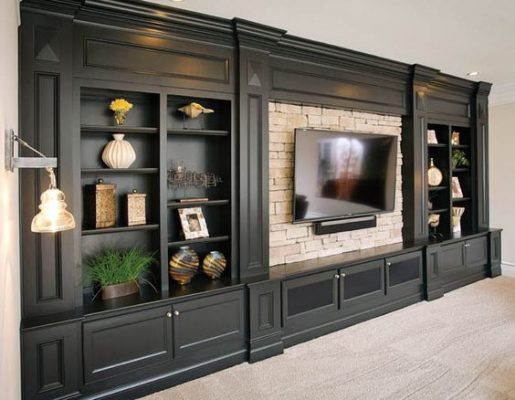 Классическая стенка для гостиной