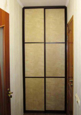 Двери с нубуком для встроенного шкафа